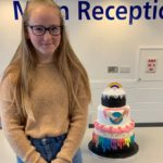 Rainbow Cake Competition winner shares prize with NHS staff